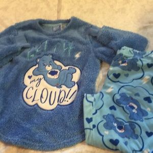 Care Bears Grumpy Bear sleep set 2piece sz s
